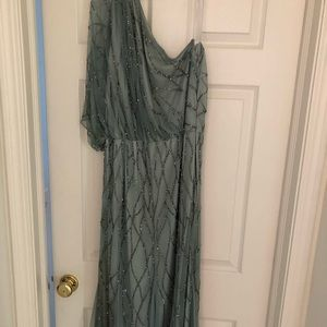Adrianna Papell One-Shoulder Dress Size 16